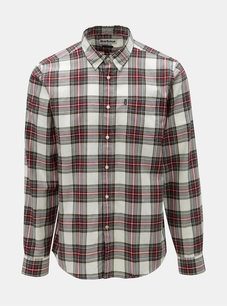 Červeno–biela kockovaná košeľa s náprsným vreckom Barbour Endsleigh Highland Check