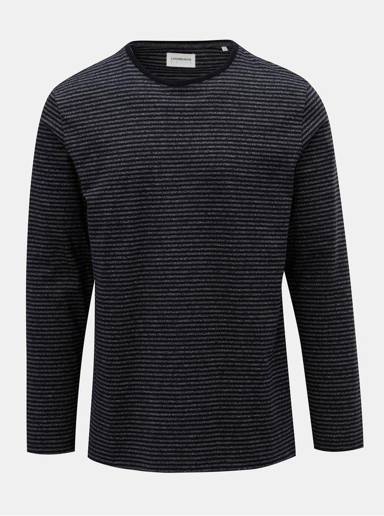 Sivo–modré pruhované basic tričko Lindbergh