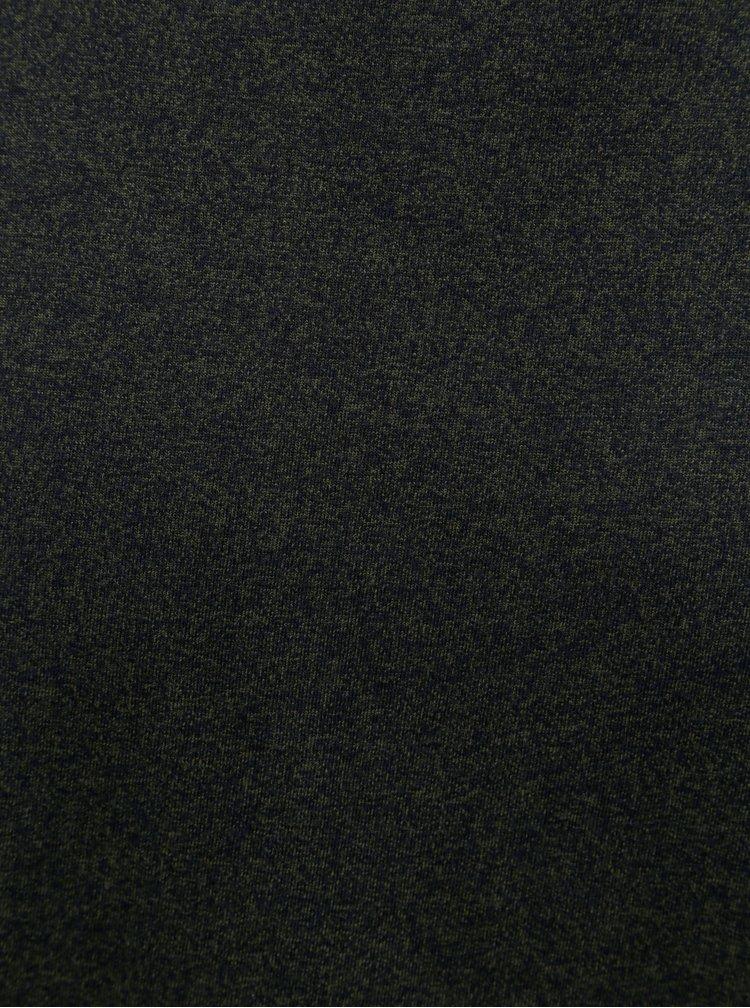 Tmavozelené melírované basic tričko s krátkym rukávom Lindbergh