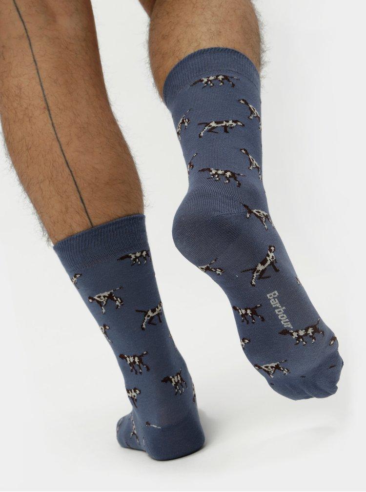 Modré ponožky s motivem psů Barbour Pointer Sock