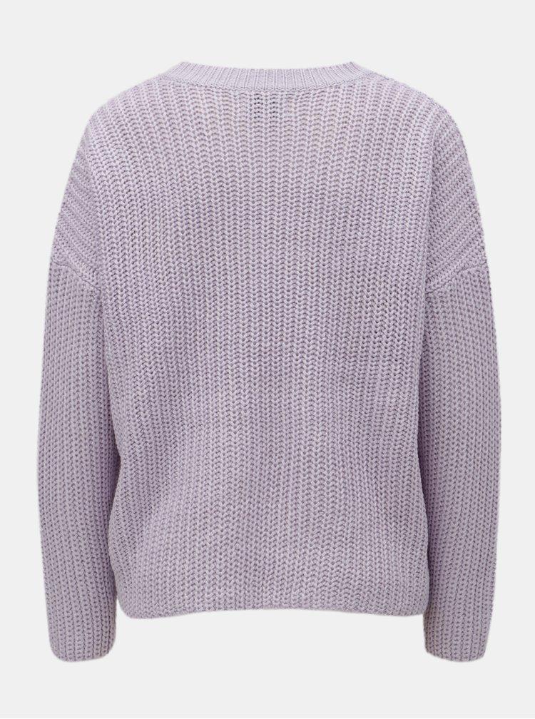 Svetlofialový voľný sveter ONLY Nicoya
