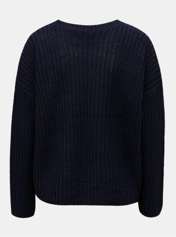 Tmavě modrý volný svetr ONLY Nicoya