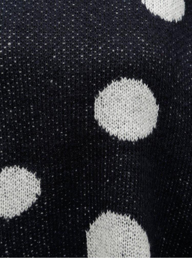 Tmavě modrý puntíkovaný svetr ONLY Tiffany