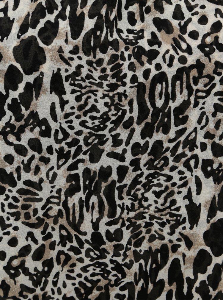 Bluza negru-bej cu model si decupaje la spate Jacqueline de Yong Abigail