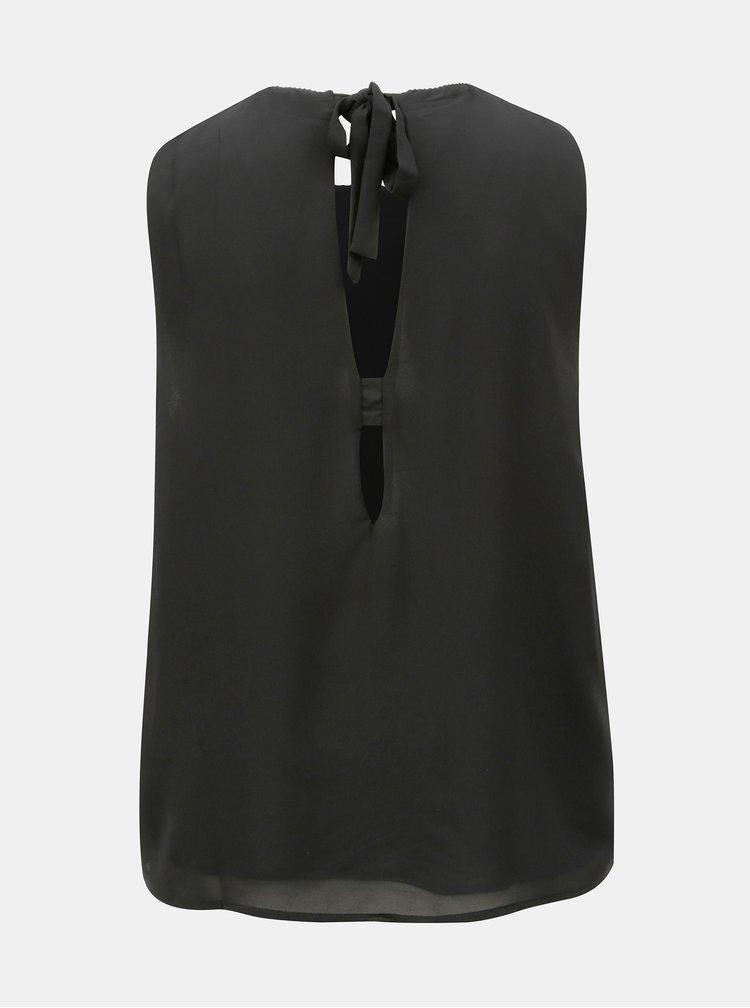 Černá halenka s průstřihy na zádech Jacqueline de Yong Abigail
