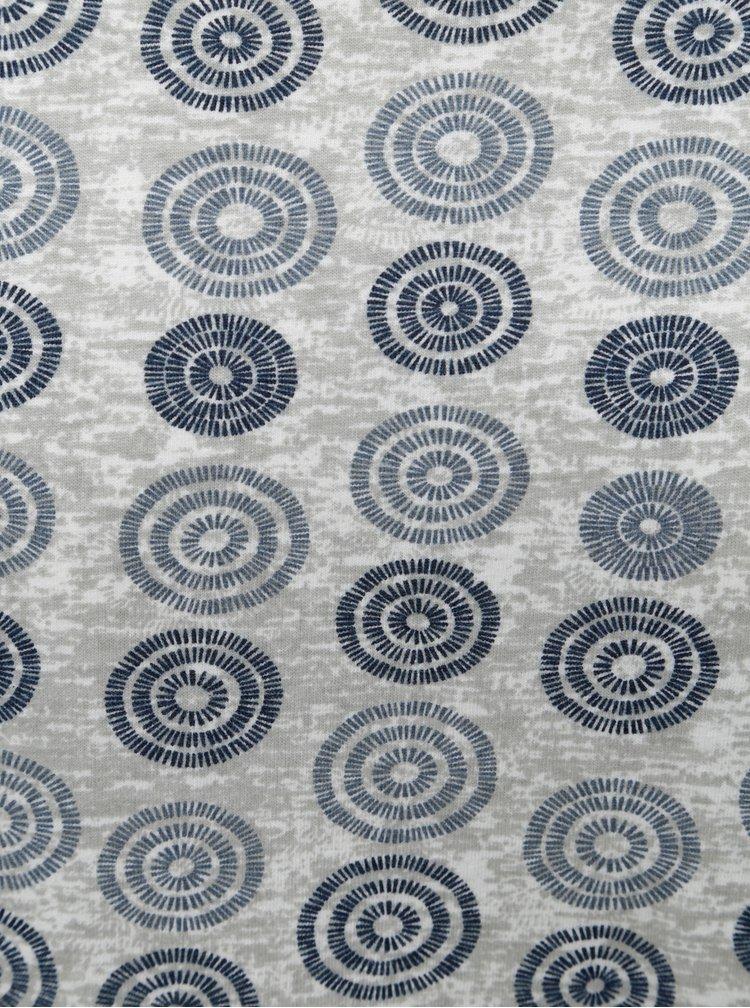 Modro-šedé vzorované tričko Dstrezzed
