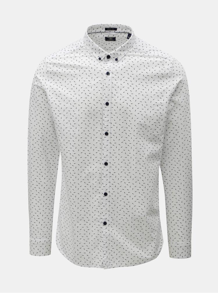Bílá vzorovaná košile Dstrezzed