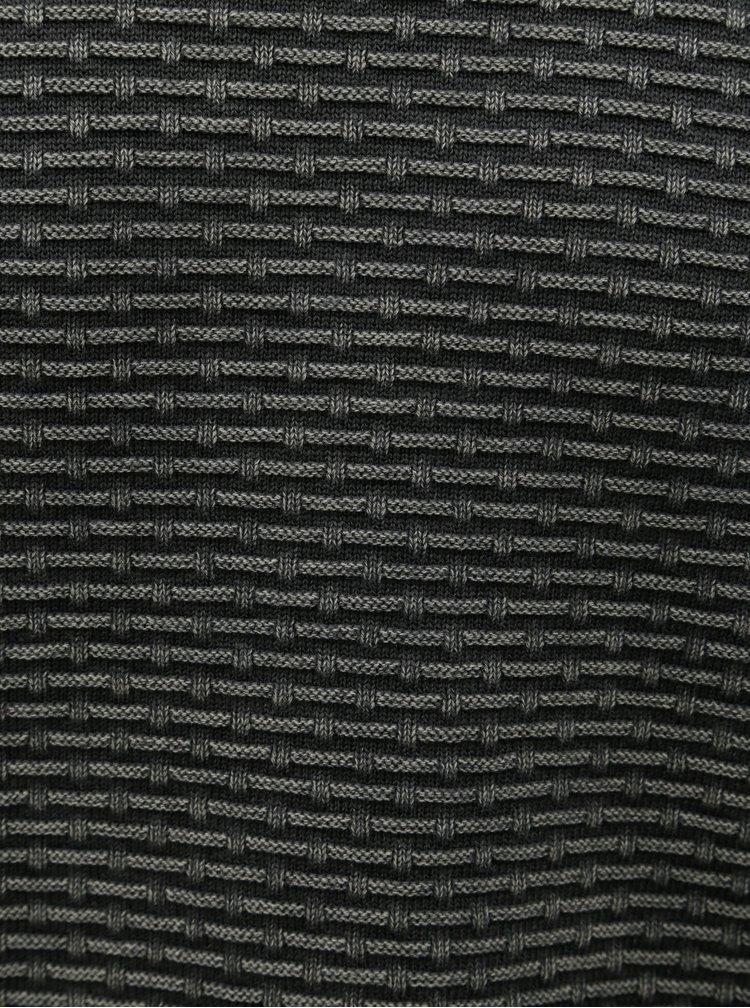 Sivý vzorovaný sveter Dstrezzed