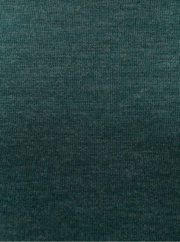 Pulover verde lejer din lana Merino Dstrezzed