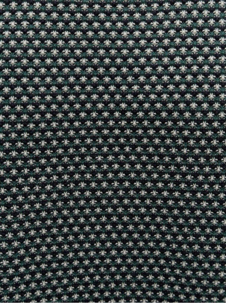 Zeleno-krémový vzorovaný svetr Dstrezzed