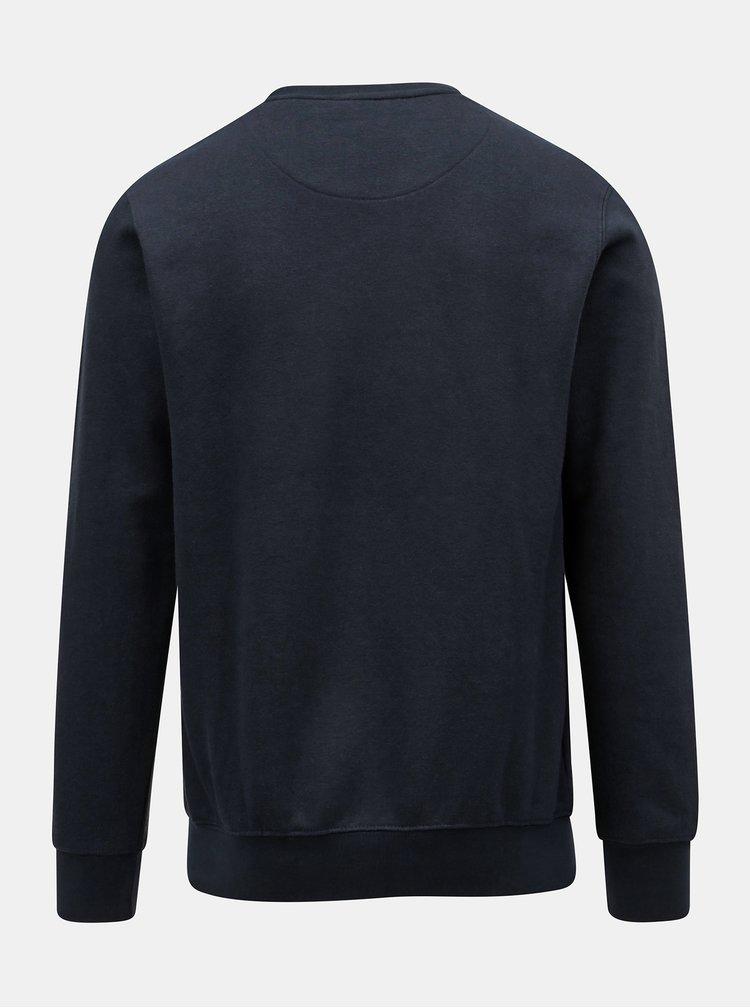 Bluza sport albastra cu broderie Dstrezzed