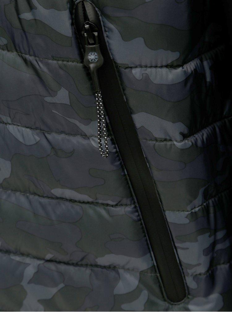 Zeleno–čierna vzorovaná bunda Dstrezzed