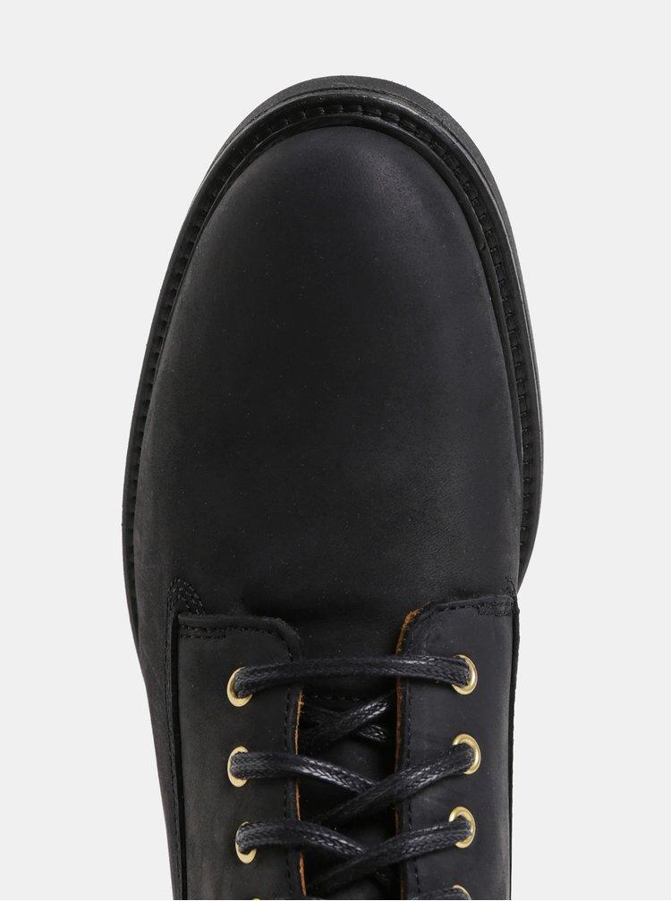 Černé dámské kožené kotníkové zimní boty GANT Ashley