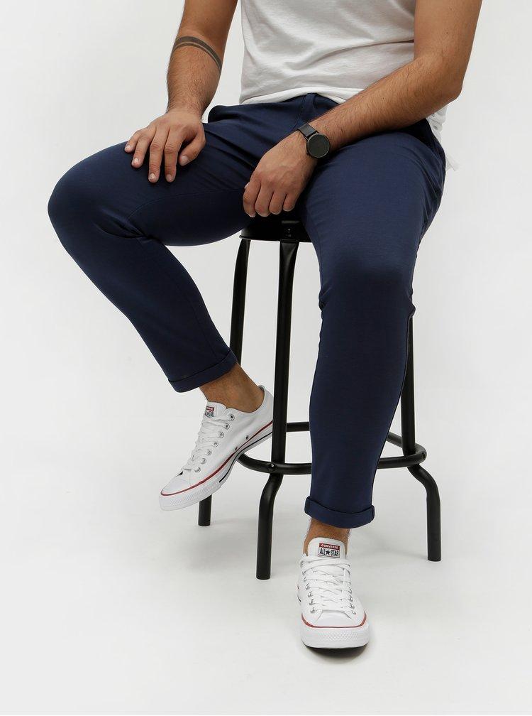 Pantaloni albastru inchis chino Shine Original