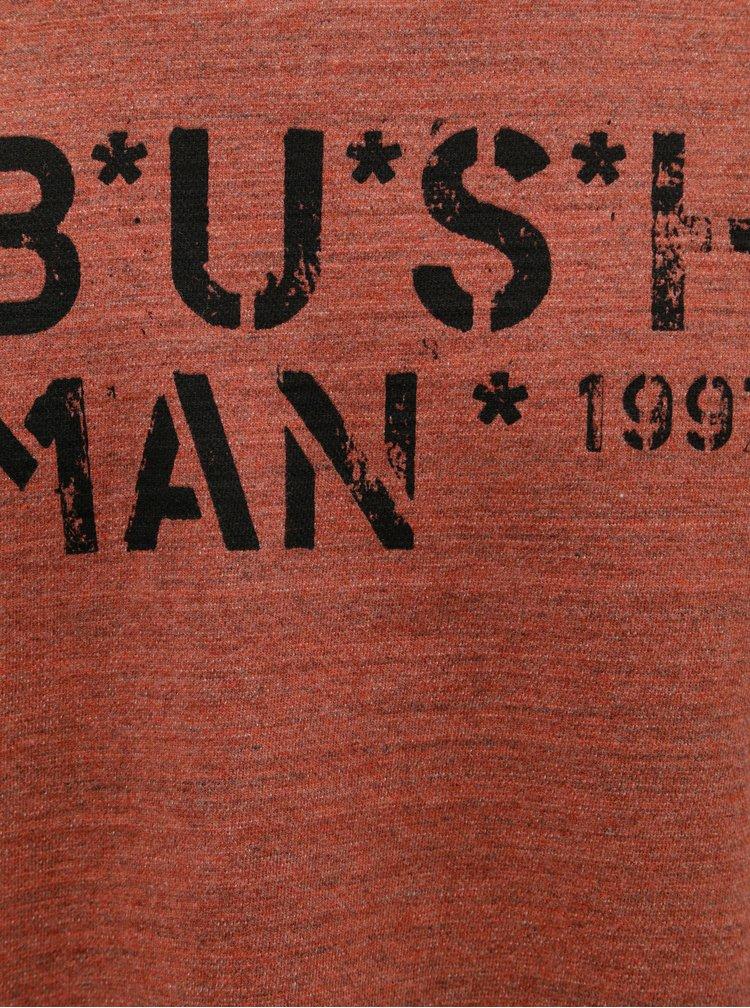 Tricou barbatesc caramiziu melanj cu maneci lungi BUSHMAN Joe