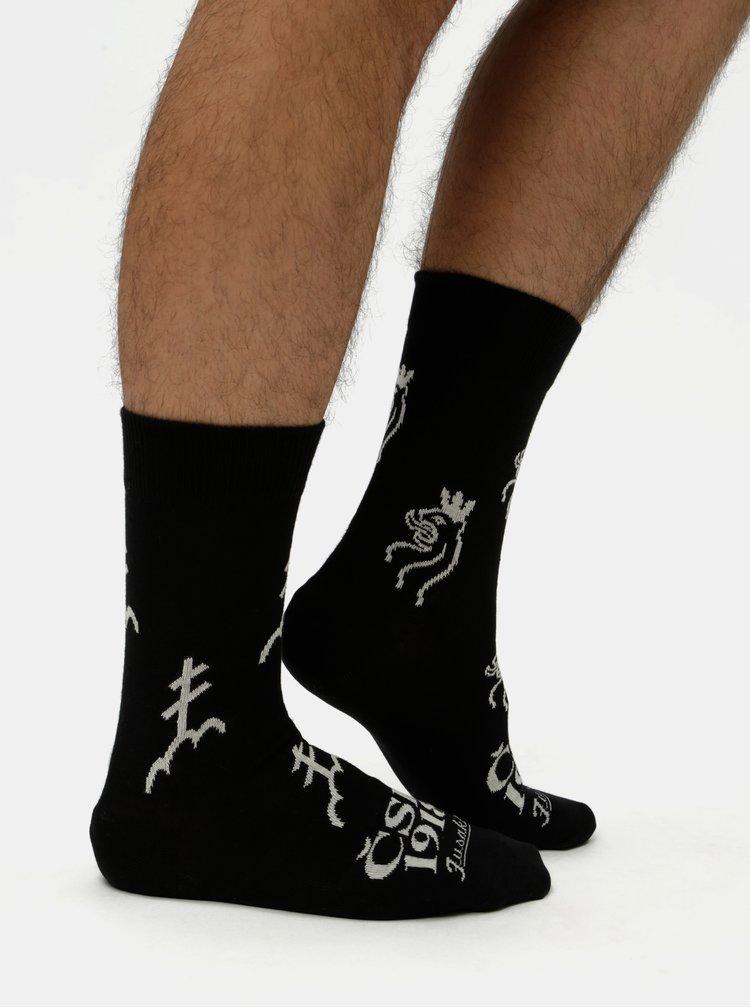 Čierne unisex ponožky Fusakle CSR 1918