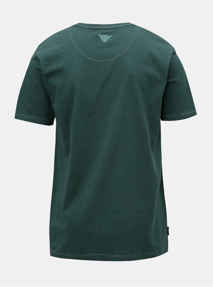 Tricou barbatesc verde inchis cu imprimeu BUSHMAN Wing