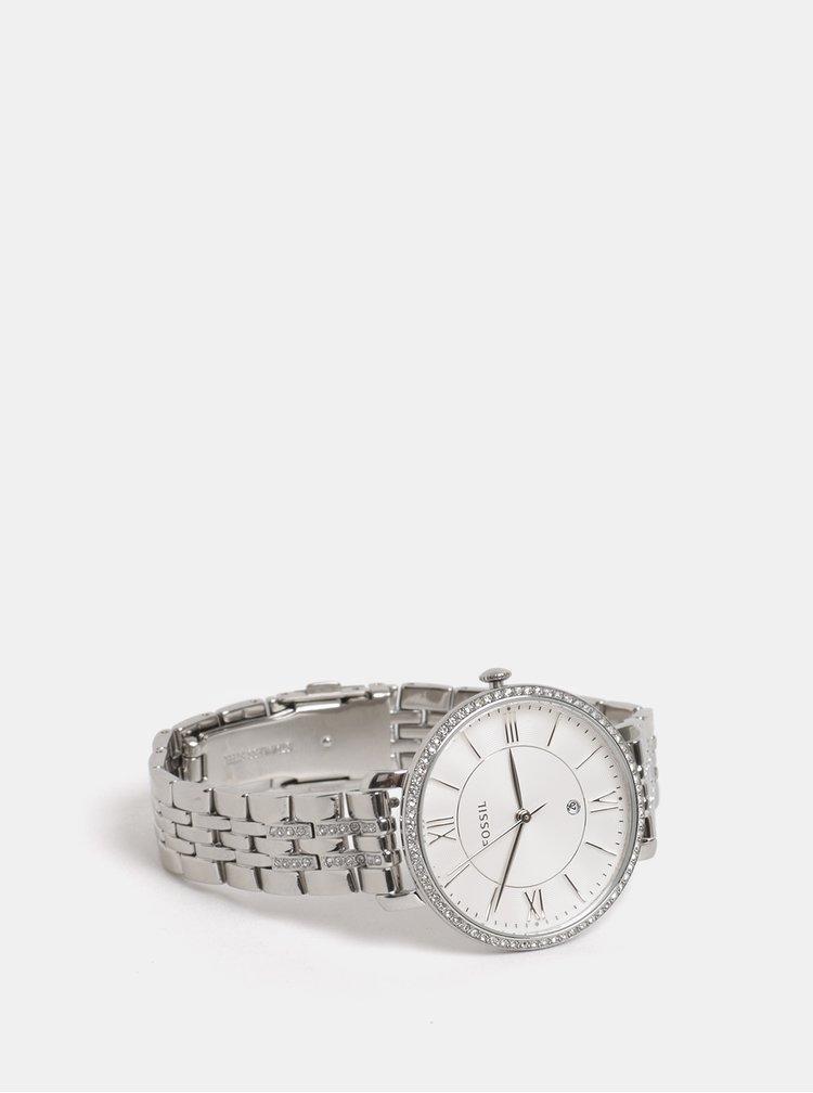 Dámské hodinky s nerezovým páskem ve stříbrné barvě Fossil Jacqueline