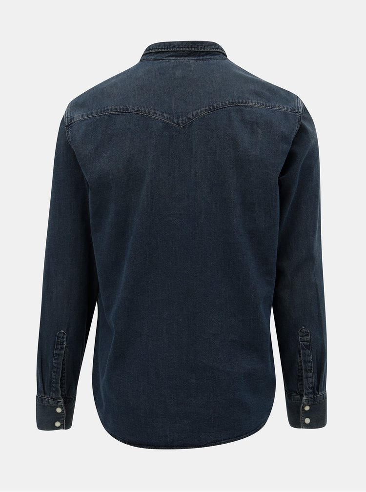 Tmavomodrá rifľová košeľa s náprsnými vreckami Levi's® Barstow Western
