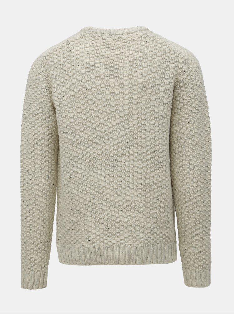 Béžový vlnený sveter SUIT