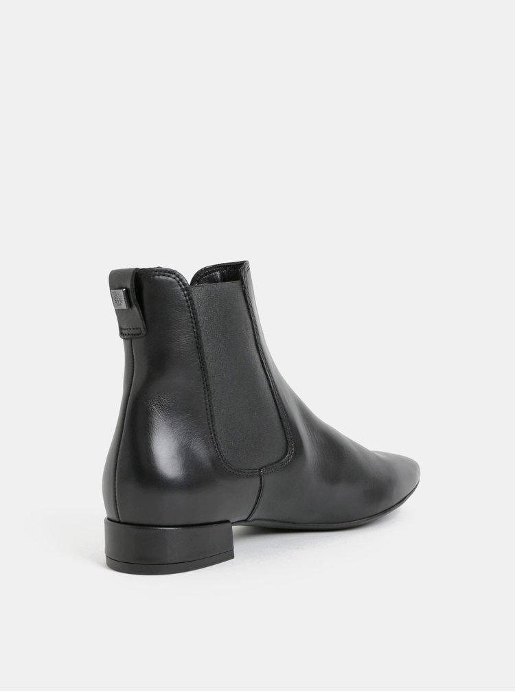 Čierne kožené chelsea topánky Högl