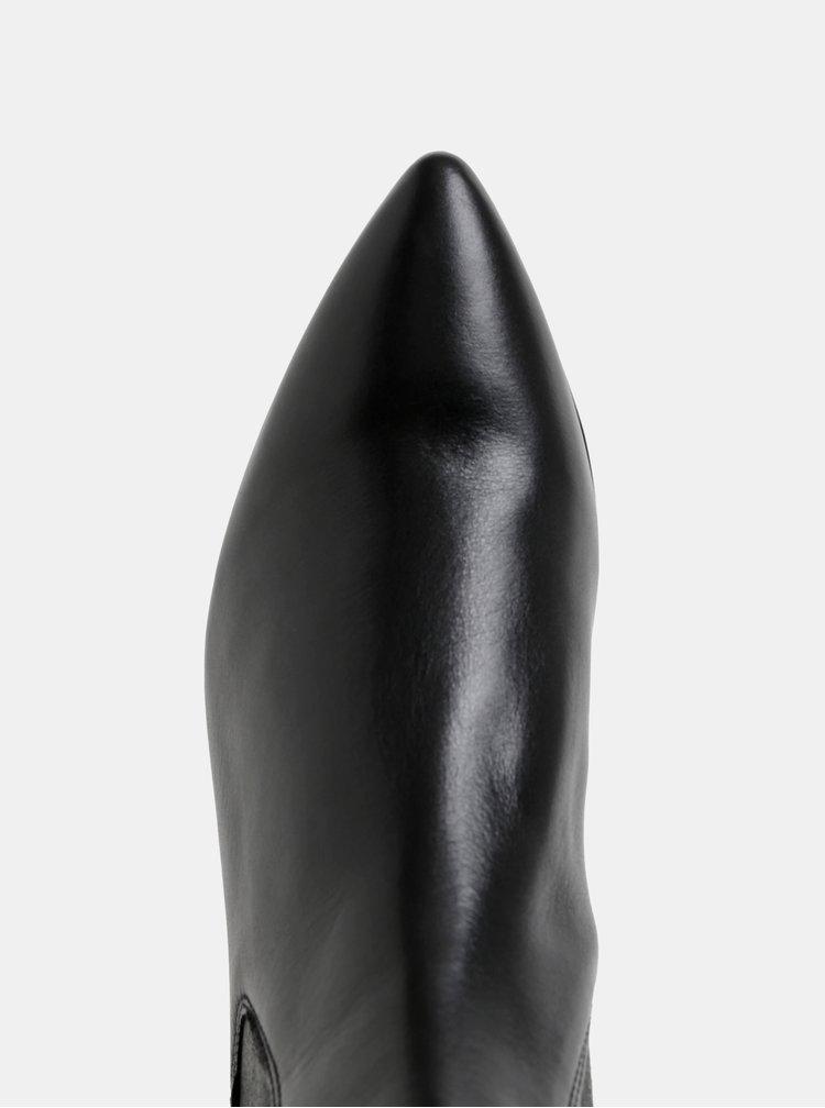 Ghete chelsea negre din piele Högl