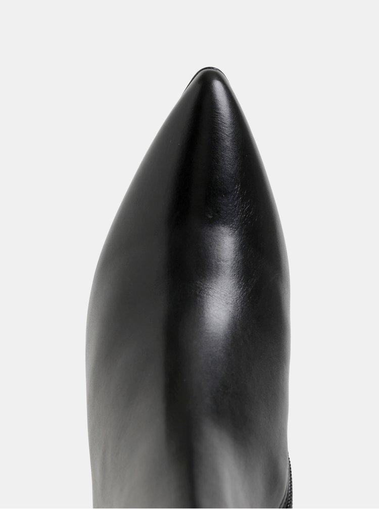 Botine negre din piele Högl