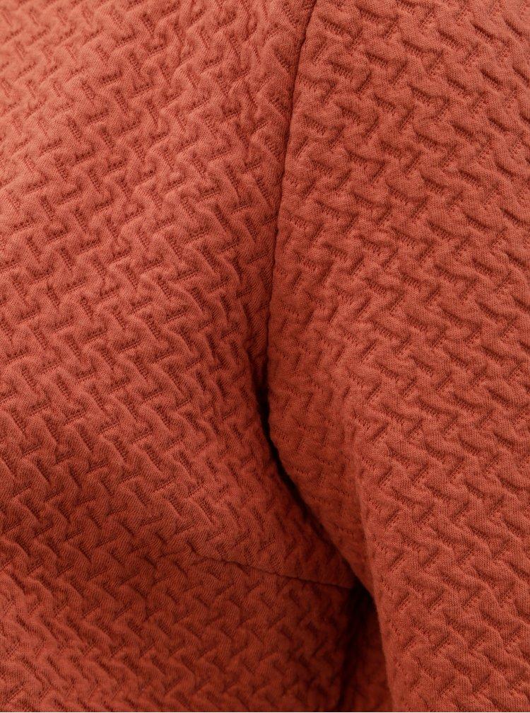 Oranžové dlhé mikinové sako VILA Vinaja