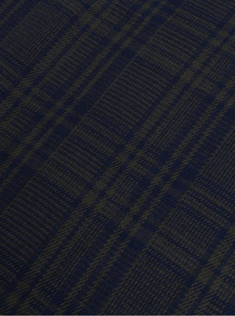 Modro-zelená károvaná šála Jack & Jones Checked