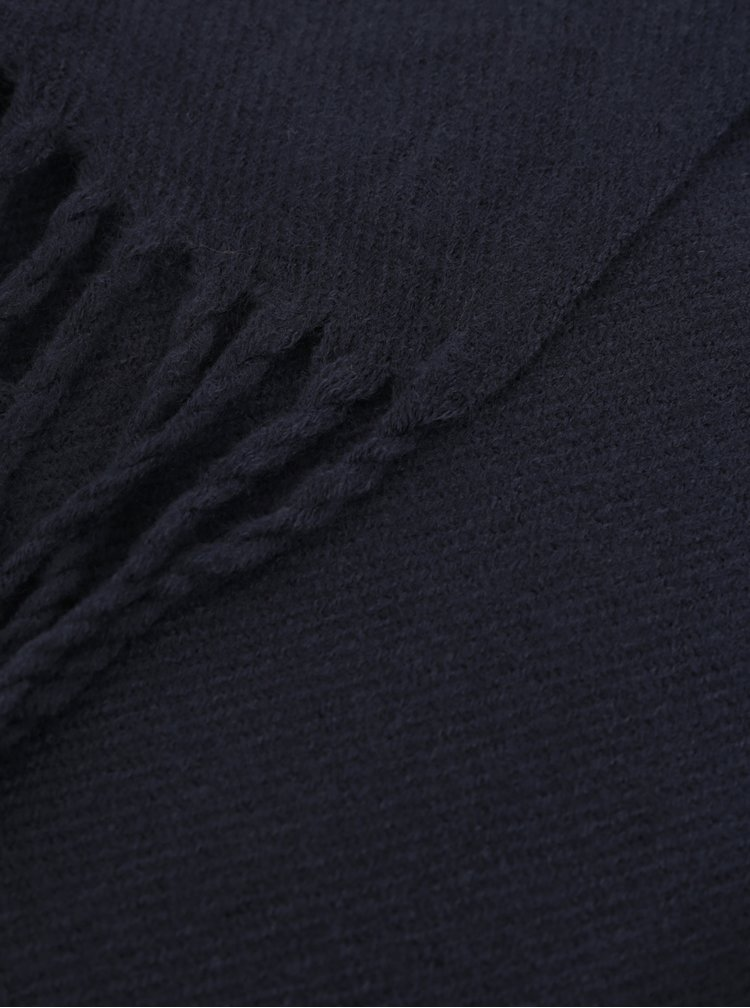 Tmavě modrá šála Jack & Jones Solid