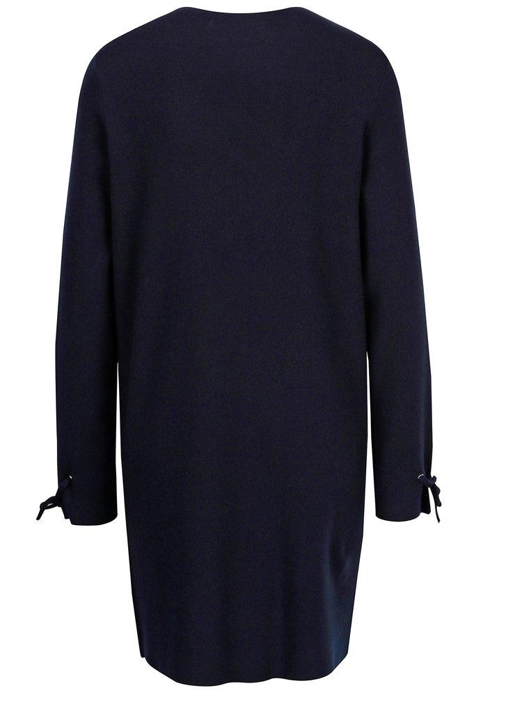 Tmavě modré svetrové šaty VERO MODA Pocha