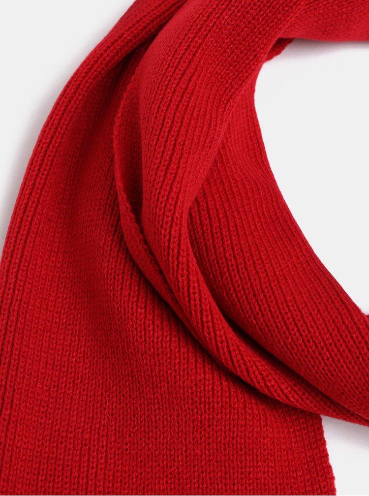 Červená pletená šála Jack & Jones DNA