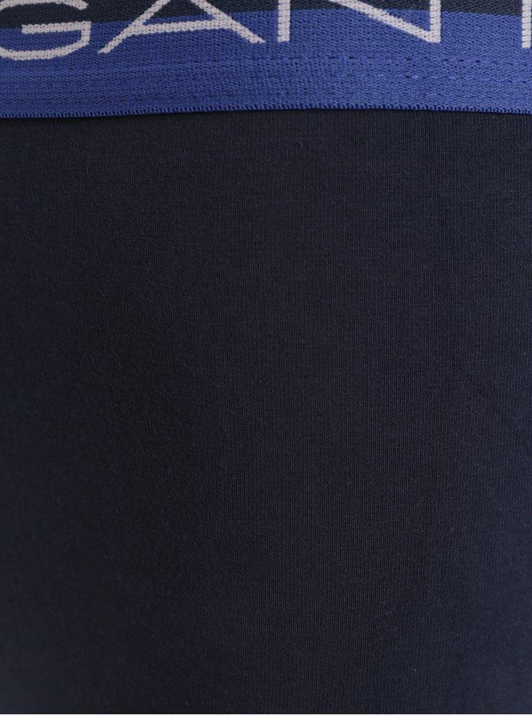 Sada tří modrých boxerek GANT Trunk Rugby