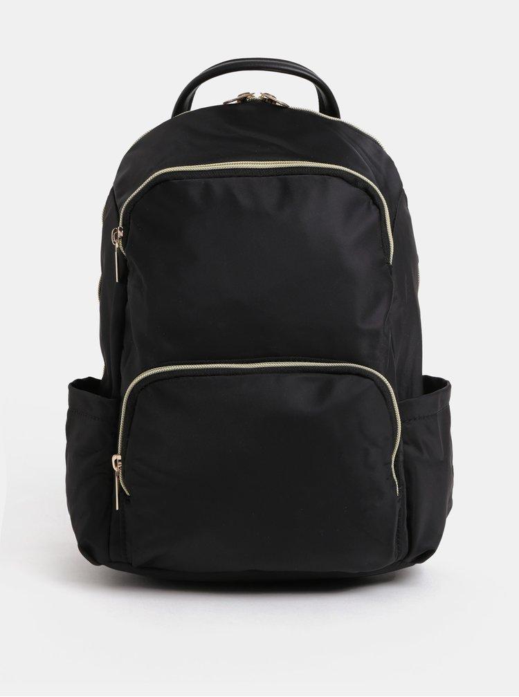 Černý batoh se zipy ve zlaté barvě ZOOT