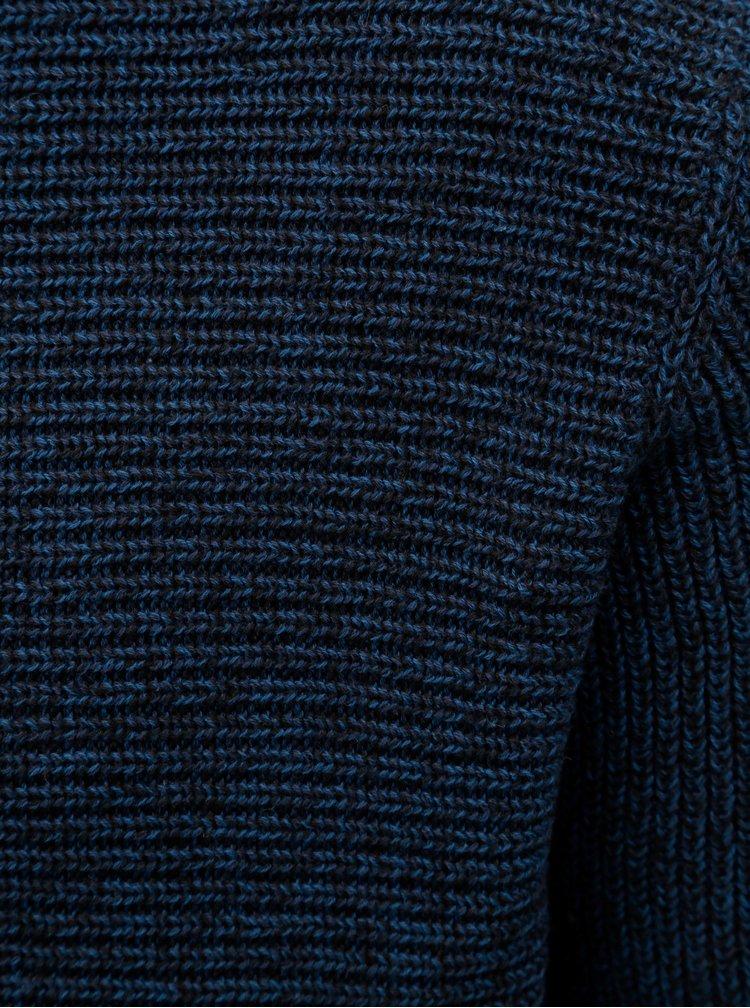 Modrý žíhaný svetr ONLY & SONS