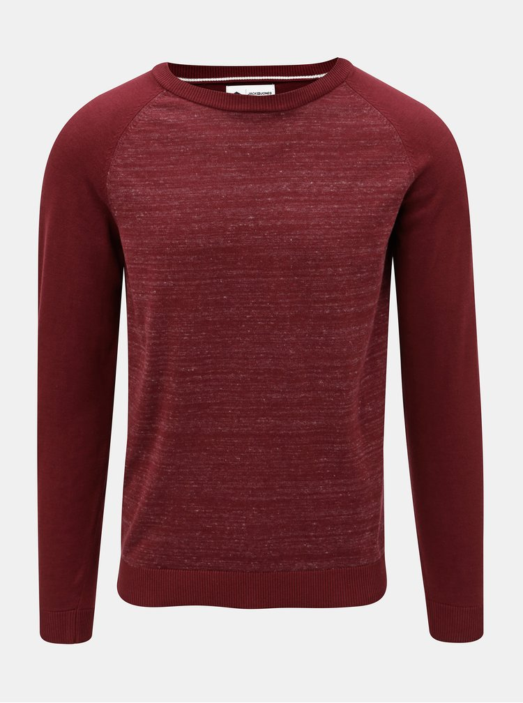 Pulover bordo melanj Jack & Jones Montana