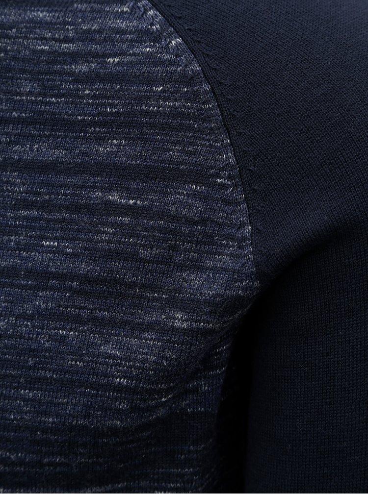 Tmavomodrý melírovaný sveter Jack & Jones Montana