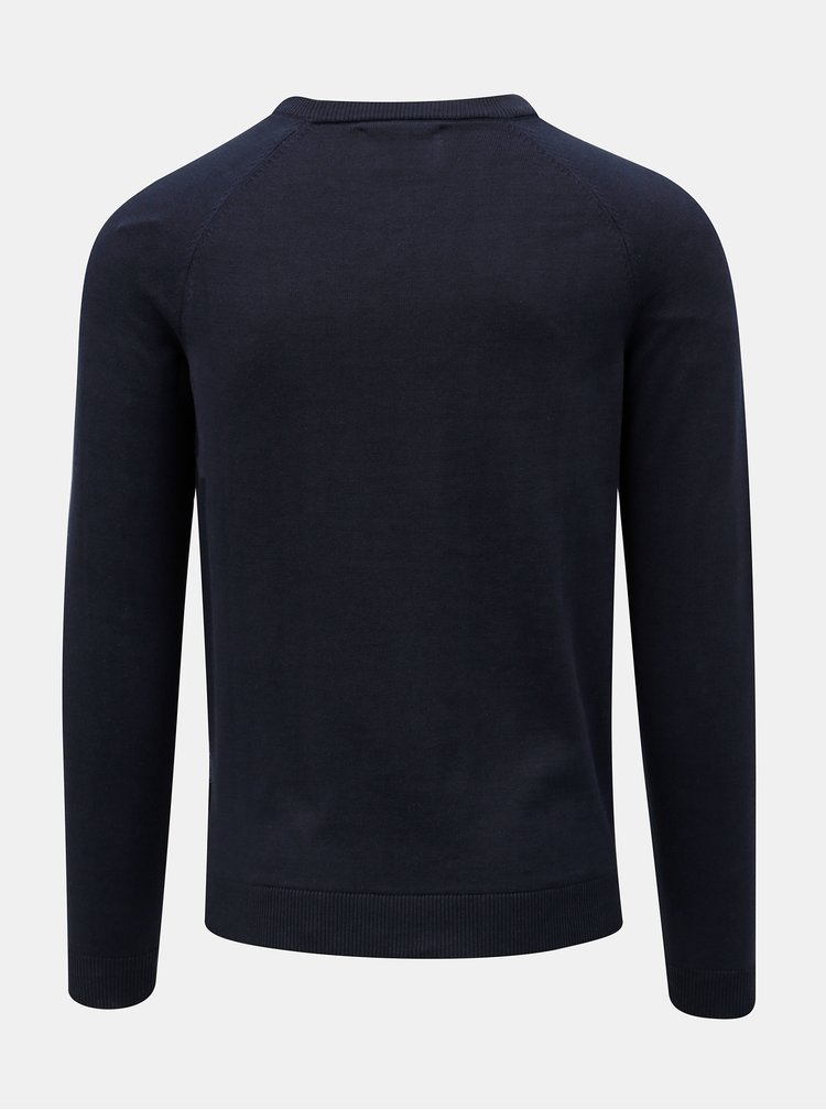 Tmavě modrý žíhaný svetr Jack & Jones Montana