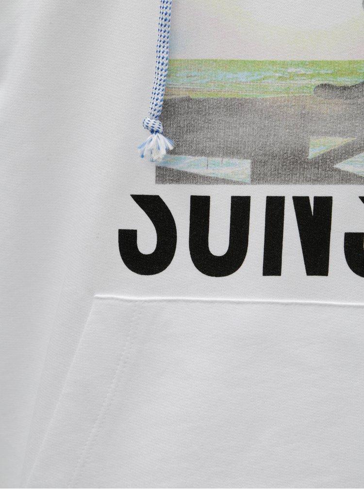Biela mikina s potlačou Jack & Jones Why