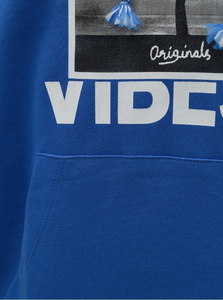 Hanorac albastru cu imprimeu Jack & Jones Why