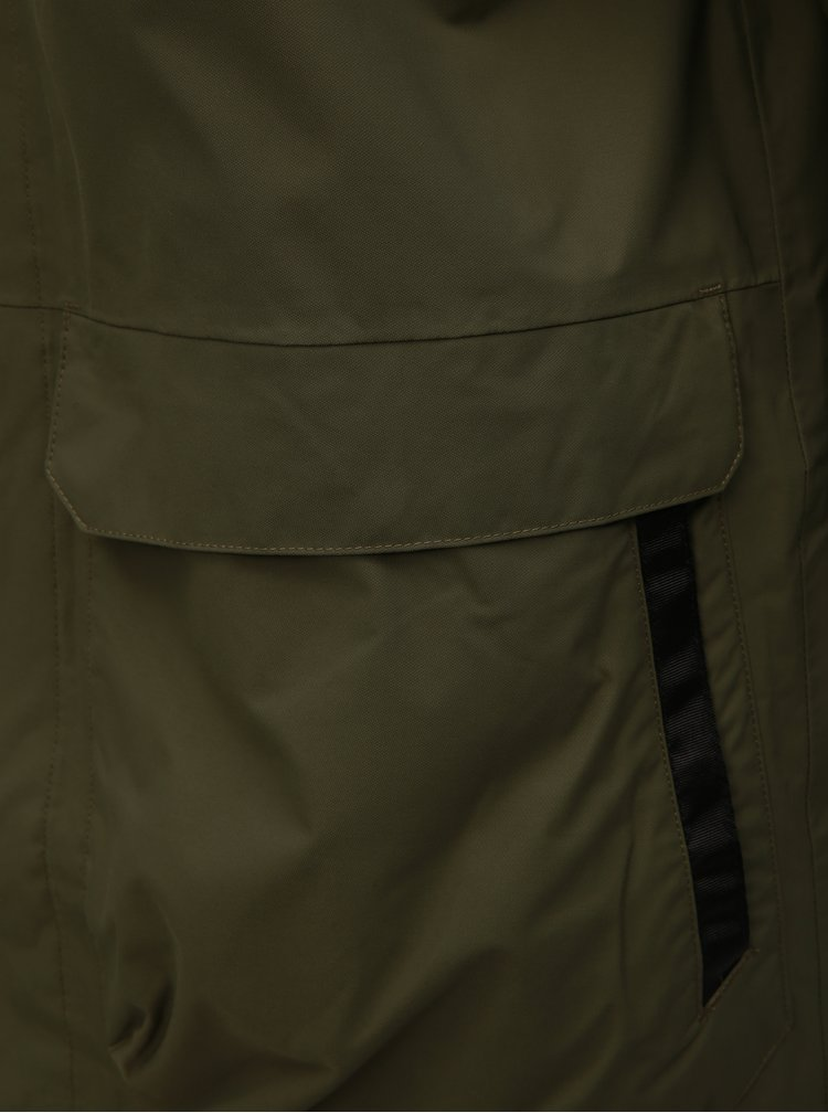 Kaki pánska zimná nepremokavá bunda HELLY HANSEN