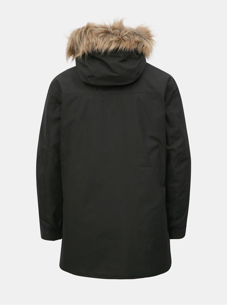 Geaca barbateasca neagra regular fit de iarna cu blana artificiala HELLY HANSEN
