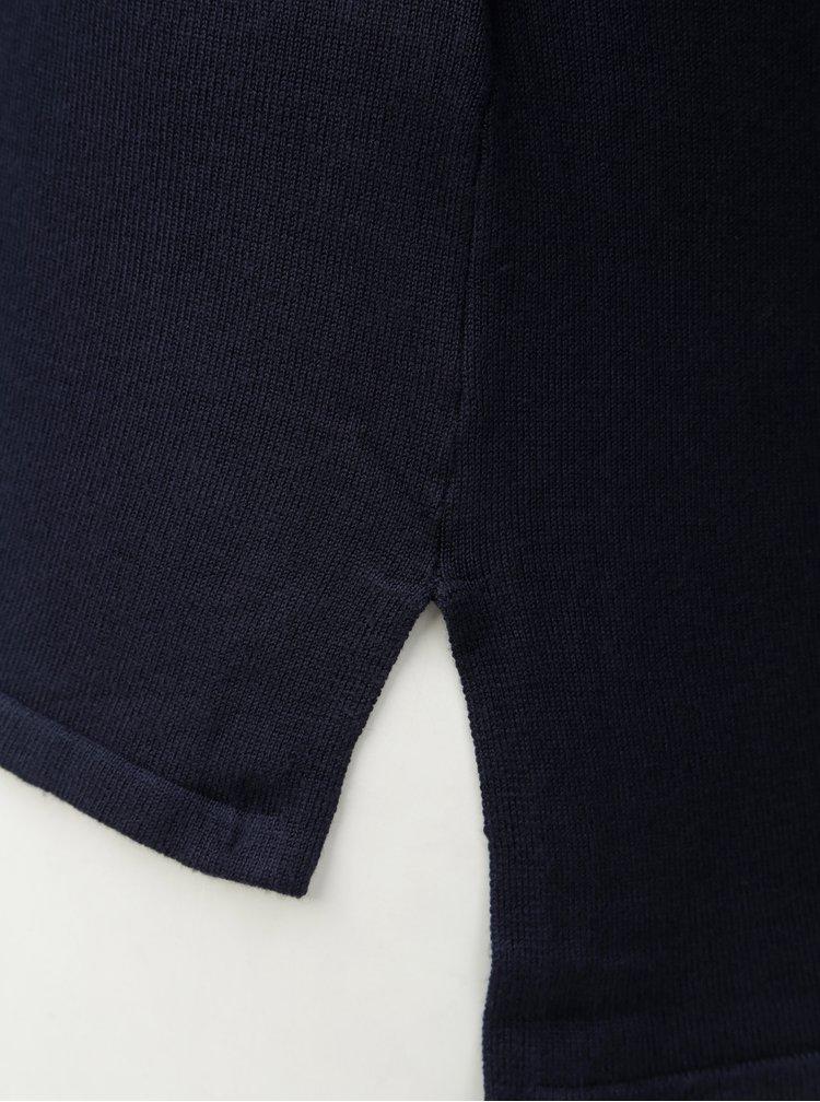 Pulover lejer albastru inchis cu spate mai lung Zizzi Cilla