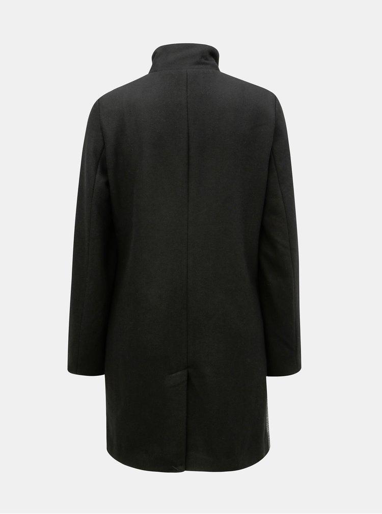 Pardesiu negru-gri din lana cu model Yest