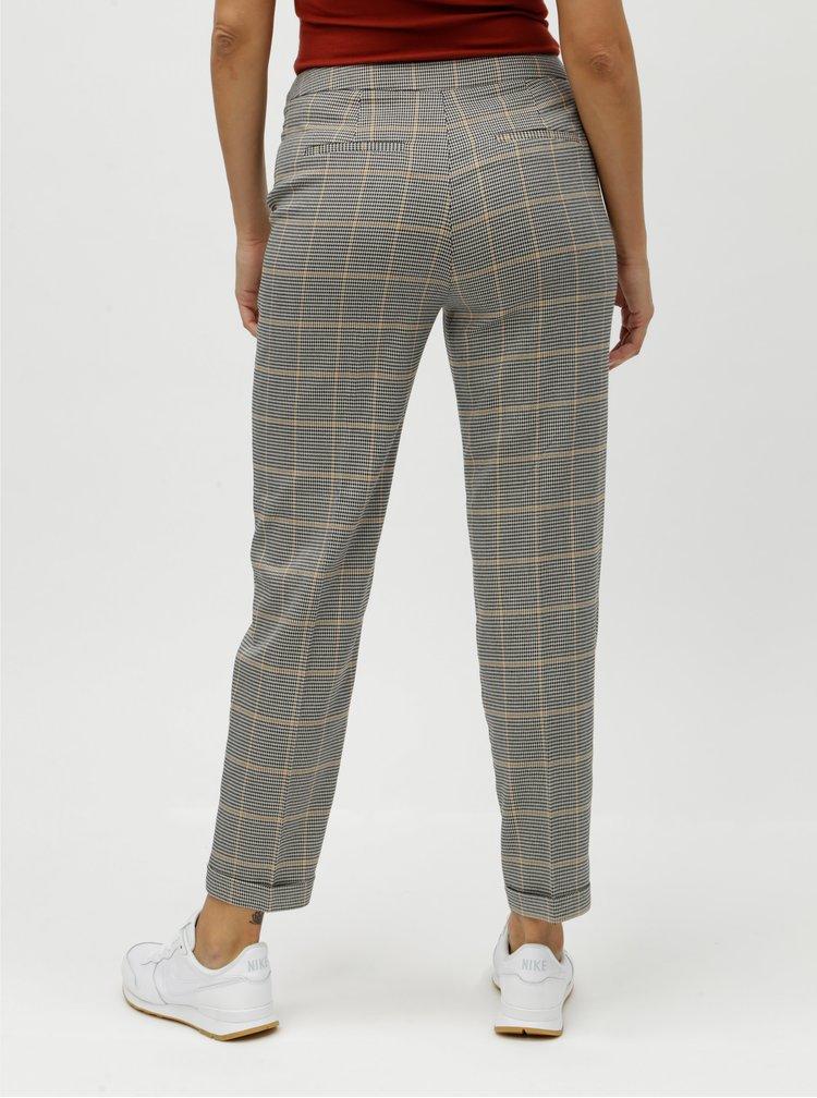 Pantaloni formali gri cu model si talie inalta VERO MODA Laja