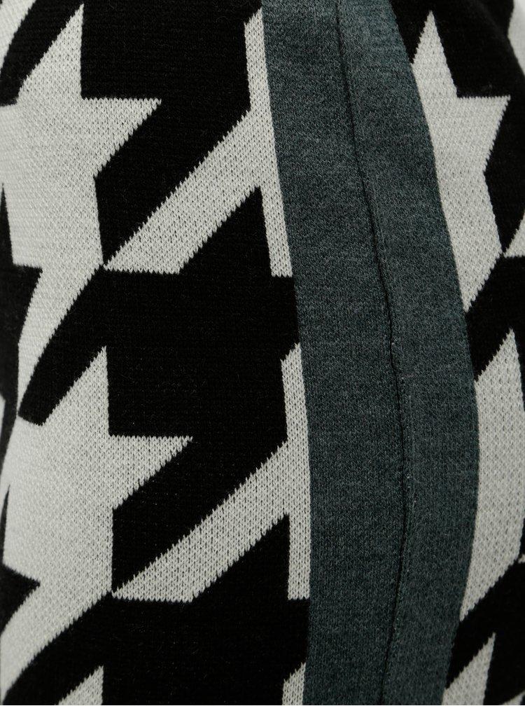 Krémovo–čierna vzorovaná puzdrová sukňa Noisy May