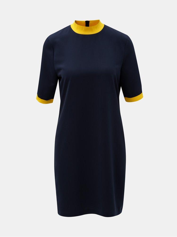 Rochie albastru inchis cu guler inalt Noisy May