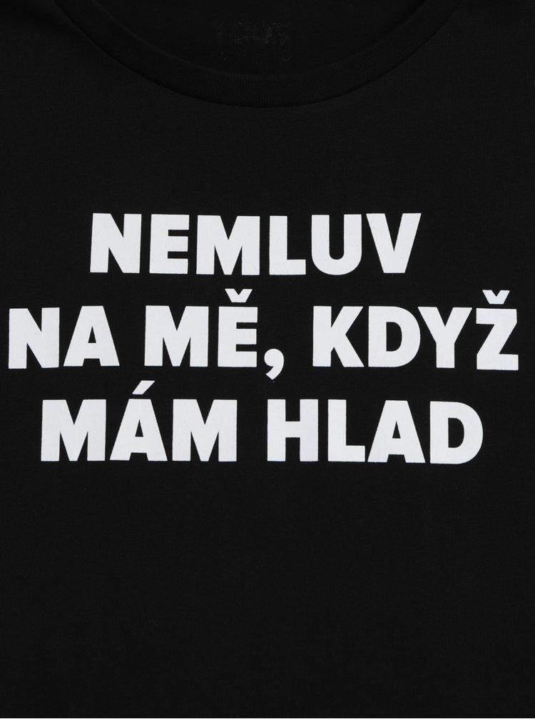 Černé dámské tričko s potiskem ZOOT Original Hlad