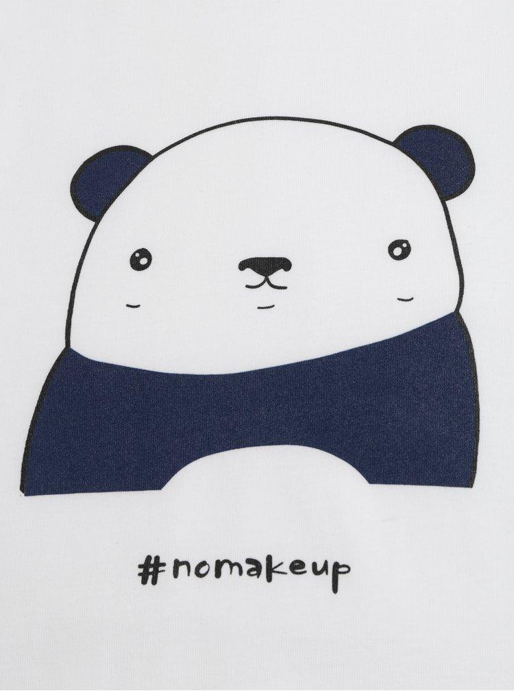 Bílé dámské tričko s motivem pandy ZOOT Original Panda