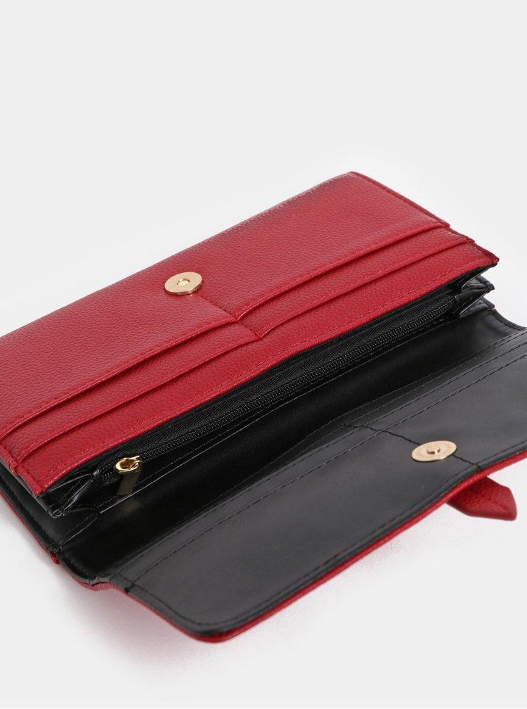 Červená koženková peňaženka Dorothy Perkins